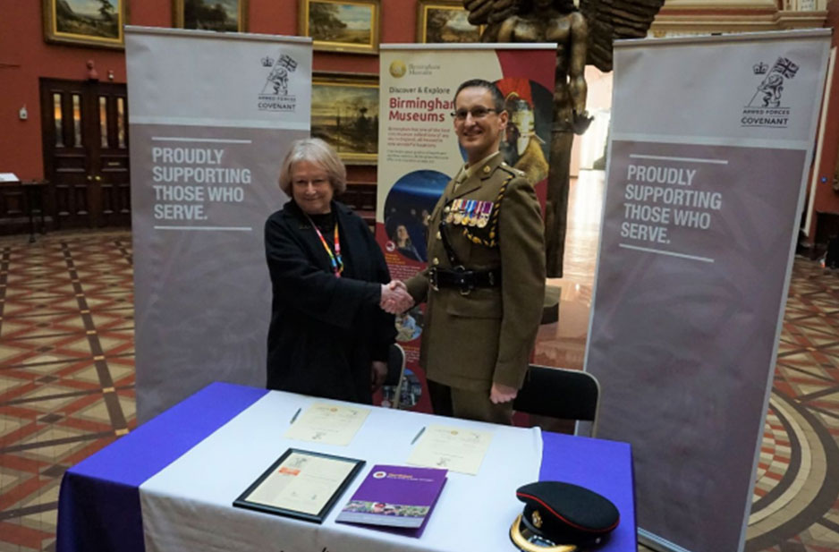 Birmingham Museums Trust shows support to the Armed Forces