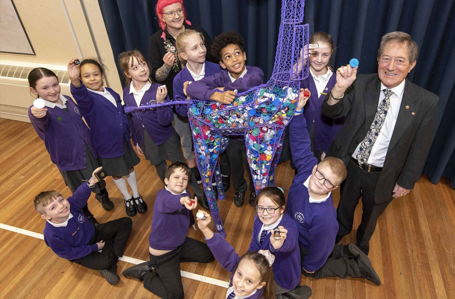 Recycling is no tall order for pupils at St Anthony's
