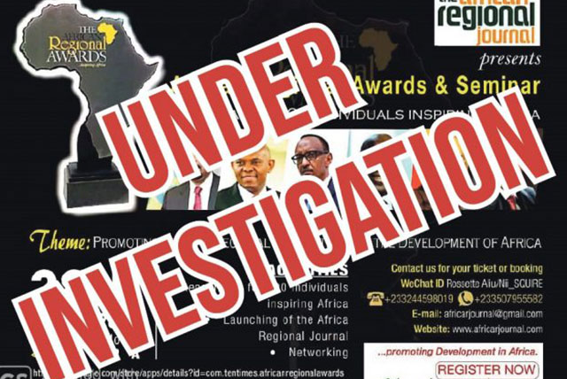 Under Investigation: The African Regional Awards and Seminar