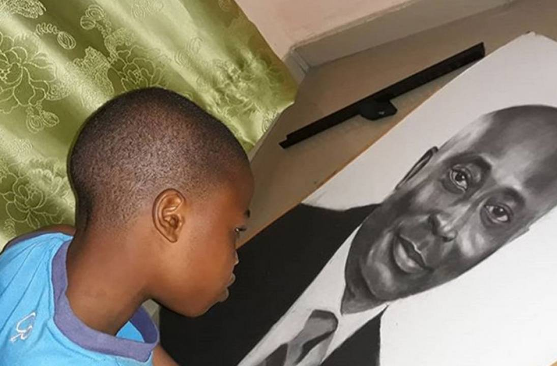 11-year-old artist Olamilekan's drawings getting worldwide attention