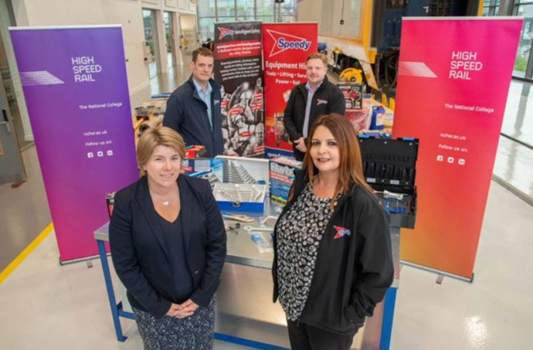 Budding rail engineers and technicians set to benefit from generous equipment donation