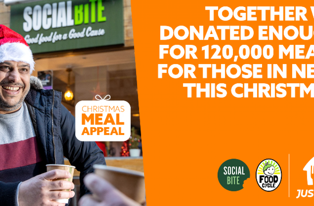 Just Eat's Christmas Meal Appeal raises more than £600k to help feed homeless and vulnerable this Christmas