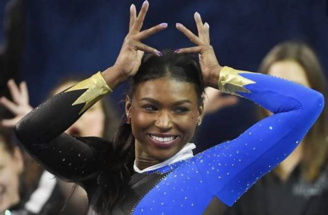 Gymnast Nia Dennis's 'Black excellence' routine goes viral