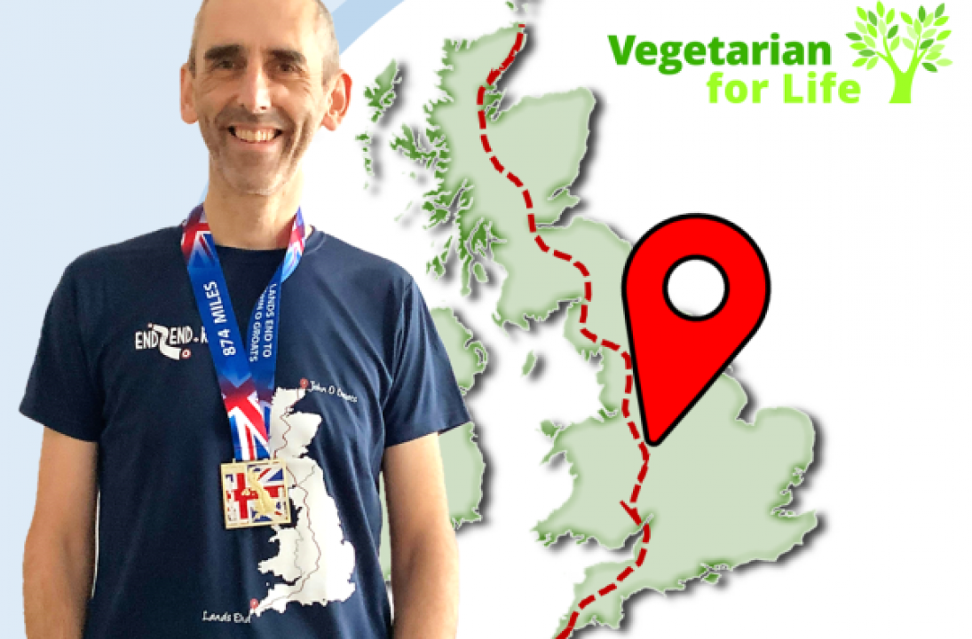Charity veggie chef takes on epic challenge in the world of virtual running